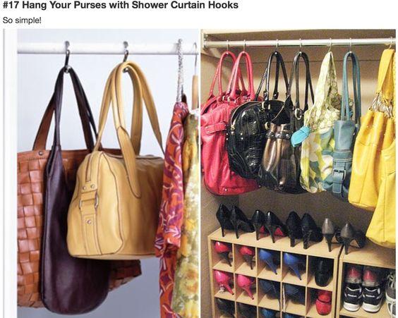 handtassen met S-haakje ophangen
