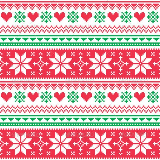 christmas sweater pattern background