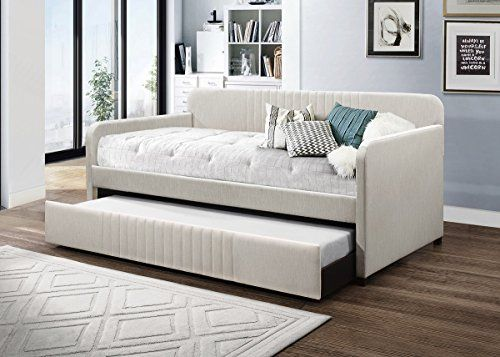 Home Design Amelia Upholstered Daybed With Trundle Beige Https Www Amazon Com Dp B07czx5ppt Ref Cm Sw R Pi Dp U Daybed With Trundle Furniture House Beds What is a daybed with trundle