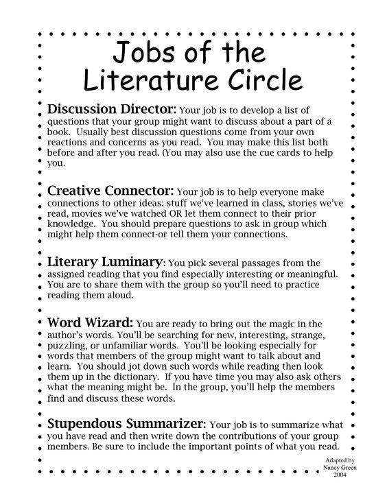 Literature Circle Jobs // Stupendous Summarizer is better than Artful Artist!