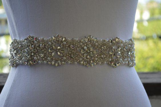 Free Gift Best Seller SashWedding Belt SashUnique by SilverBridals, $162.00