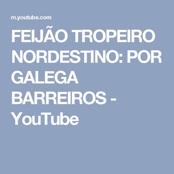 FEIJÃO TROPEIRO NORDESTINO: POR GALEGA BARREIROS - YouTube