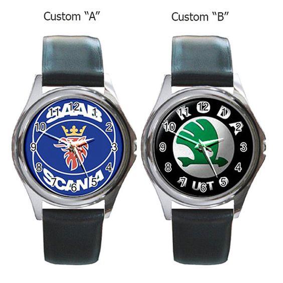 Skoda Auto Saab Scania Custome Watches Car Round Metal