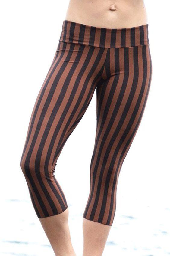 .Malaya Striped Yoga Tights