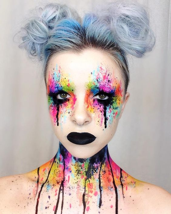 """""""Colour explosion look from the other day ✨ thank you so much to @wakeupandmakeup for sharing my work! Hope everyone is having a great day/night"""