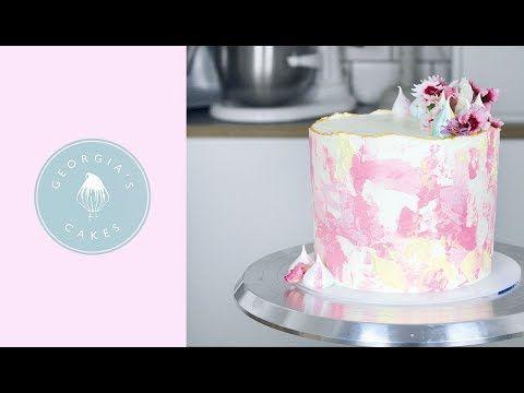 Textured Watercolour Buttercream Cake Georgia S Cakes Youtube