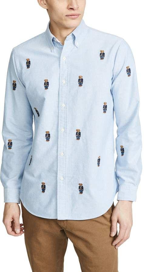 Allover Bear Shirt | Shirts, Polo ralph lauren, Ralph lauren