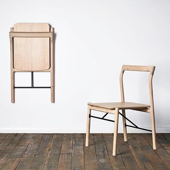 Folding chairs save space