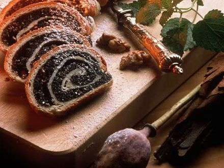 cozonac cu mac ....This is homemade bread made with poppy seed I make this every Christmas in a form of a braided wreath...R.: