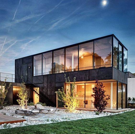 Moderne Satteldachhäuser satteldachhaus mit loft feeling moderne tradition mit satteldach