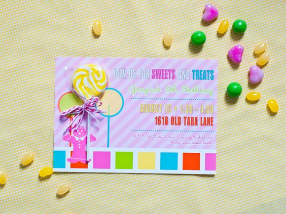 CANDY LAND Inspired Birthday Party Invitation  by andersruff, $18.00