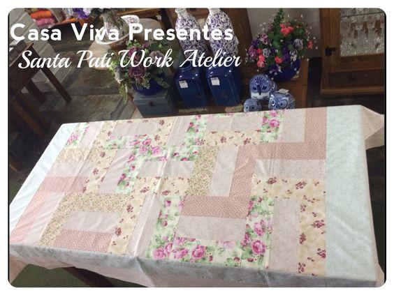 Toalha de Mesa dupla face Santa Pati Work Atelier e mimos Casa Viva Presesntes