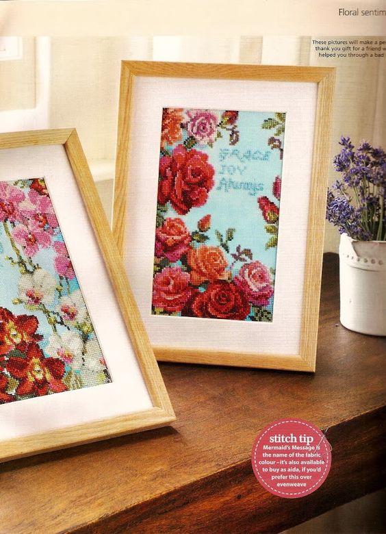 ♥Meus Gráficos De Ponto Cruz♥: Quadros: Rosas e Orquídeas em Ponto Cruz