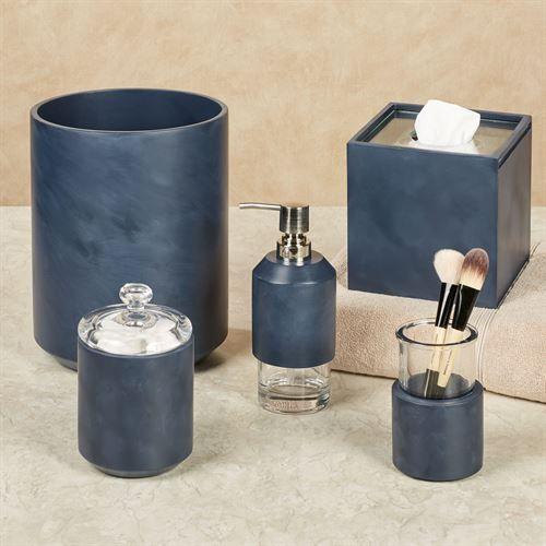 Grant Indigo Bath Accessories By Oscar And Oliver On Touch Of Class Bath Accessories Bath Accessories Set Ceramic Accessory