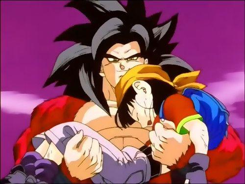 goku quiere harto a su nieta la proteje para q no le pase nada ella vio a su abuelo un niño por q las esferas del dragon lo comviirtieron