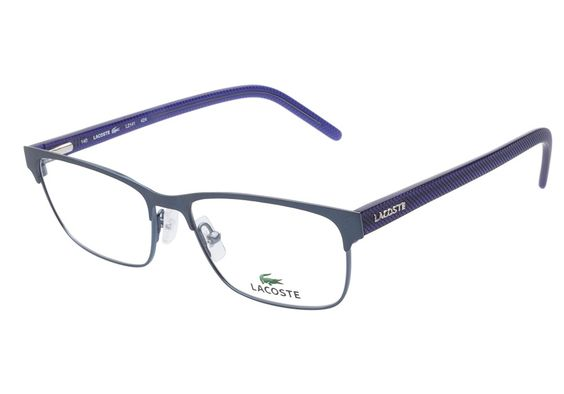 Lacoste L2141 424 Satin Blue eyeglasses are casually ...