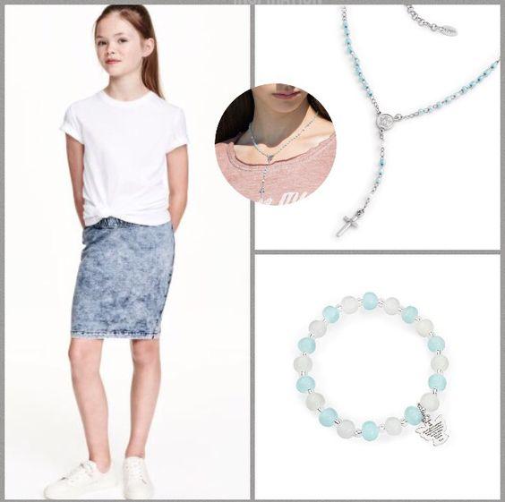 Sieraden uit de Junior collectie van Amen. Outfit H&M