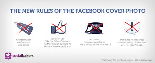What you can't put in a Facebook cover photo