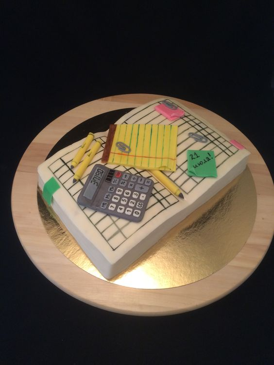 Finance cake, cake for accountant