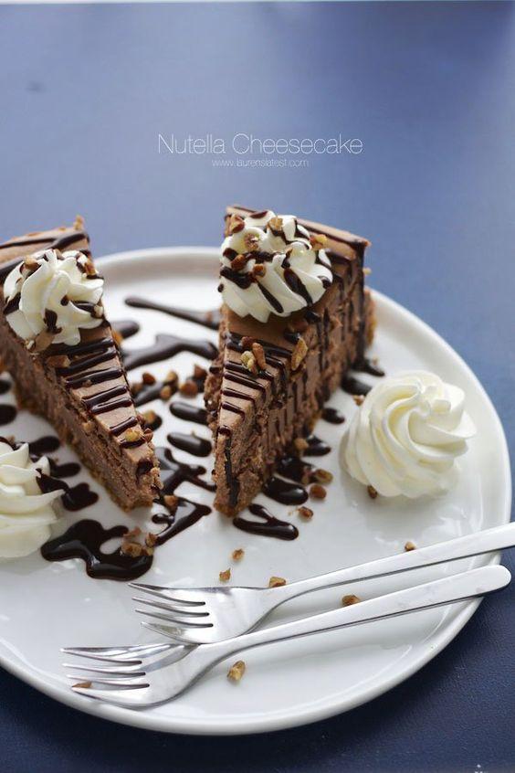 New York Style Nutella Cheesecake | Lauren's Latest