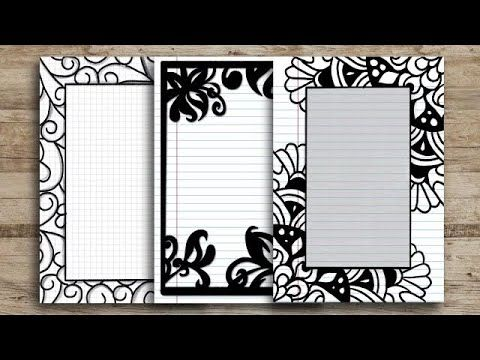 Diy three beautiful borders with a rectangle base archer and olive. Black Border Designs On Paper Front Page Design For School Project Project Work Designs Youtube In 2021 Front Page Design Border Design Paper Design
