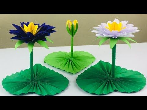 Lotus Flower Craft Lotus Flower With Paper Paper Crafts For School Diy Paper Lotus Flower Youtube Paper Flowers Craft Paper Lotus Flower Diy Crafts