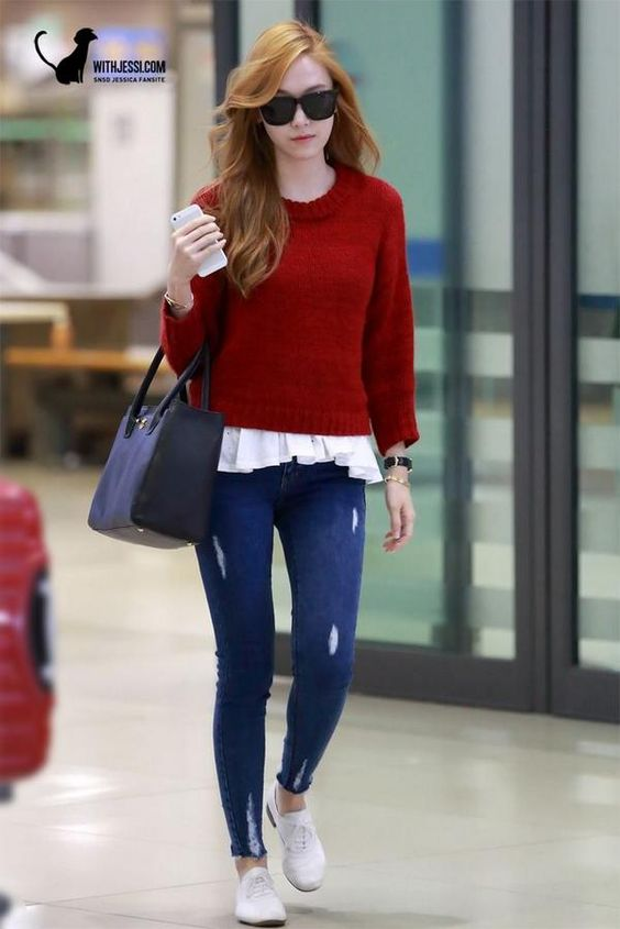 Jessi Wearing Red Jessicajung Withjessi Snsd Jessica Jung Pinterest Incheon Red And