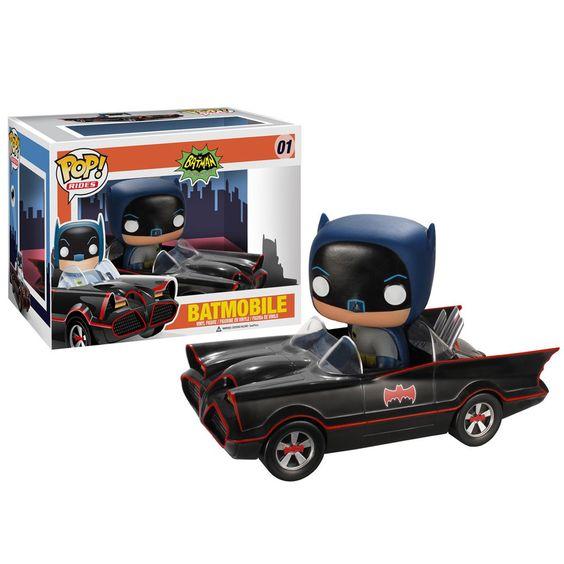 Funko Pop! Batman 1966 + Batmovil Espectacular Pop! de Batman clásico montado en su Batmovil vintage. No se te escapará ningún villano con él.
