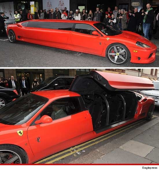 What You Haven T Seen A Stretch Ferrari Limousine Before Dear