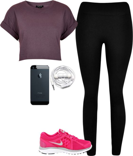 """""""inspired outfit for a run"""" by hayleycarbran ❤ liked on Polyvore"""