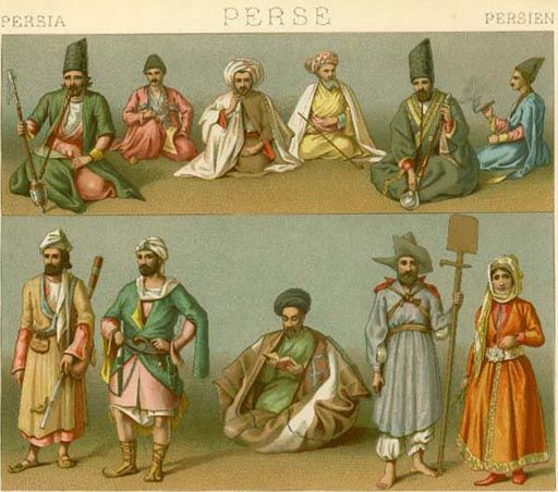 18th 19th Century Persia Poster Prints Canvas Prints Historical Clothing