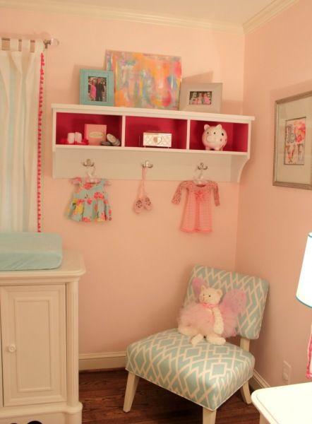 quarto bebe rosa e azul turqueza