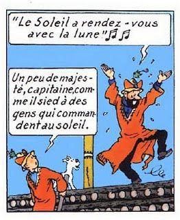 Tintim por Tintim: Há 5 anos, o único blog brasileiro dedicado à obra de Hergé: Aventura Musical: O Sol e a Lua • Tintin and Captain Haddock Prisoners of the Sun • Tintin, Herge j'aime