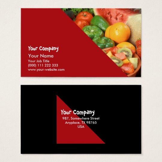 Fresh Fruit And Vegetables Business Card Zazzle Com Fresh Fruits And Vegetables Fresh Fruit Fruits And Vegetables