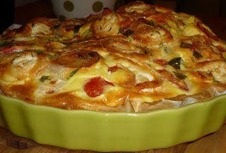 Ma tarte soufflée aux fromages - avec plein de légumes inside -