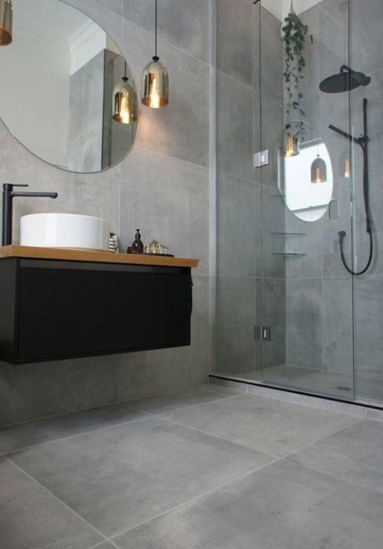 Badezimmer Fliesen Ideen Grau Graue Badezimmerfliesen Badspiegel Badezimmer Grau