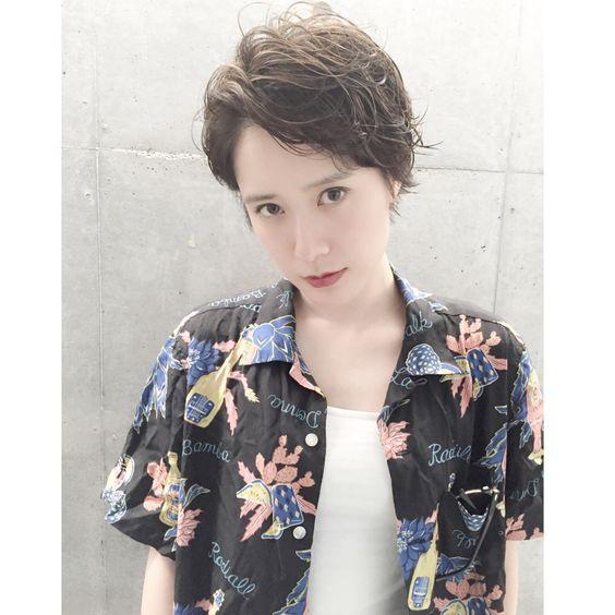 かきあげ・前髪・ショート