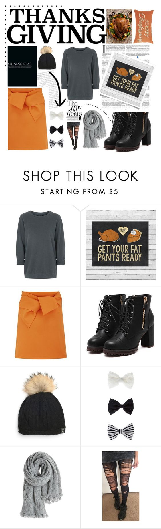 """""""home for thanksgiving. <3"""" by tatjana ❤ liked on Polyvore featuring Topshop, Lavish Alice, Accessorize, Calypso St. Barth, contestentry, thanksgiving and happythanksgiving"""