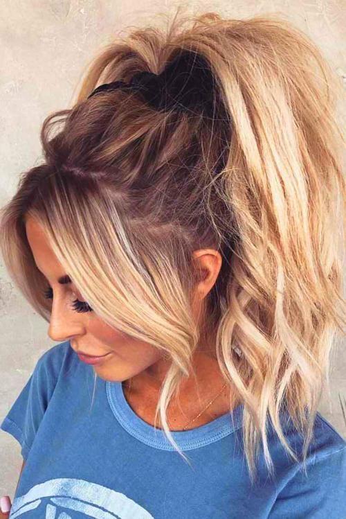 Long Bangs Hair Styles High Ponytail Hairstyles Bangs Ponytail