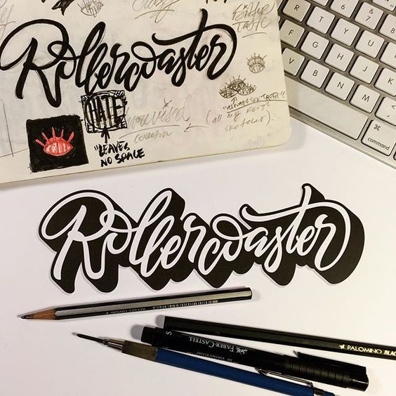 Rollercoaster #type #lettering #handlettering #typespire #typegang #TYxCA…