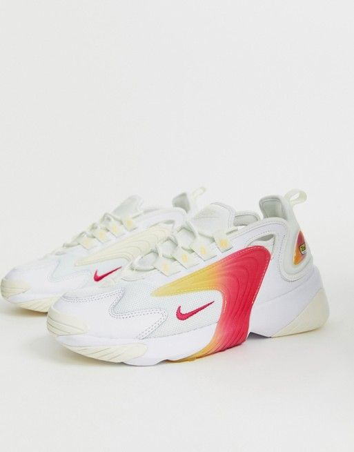 Nike White And Orange Zoom 2K Trainers in 2019 | White nikes ...