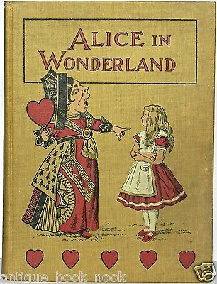 1890 Alice in Wonderland Antique Lewis Carroll Alice's Adventures Book Vtg RARE | eBay: