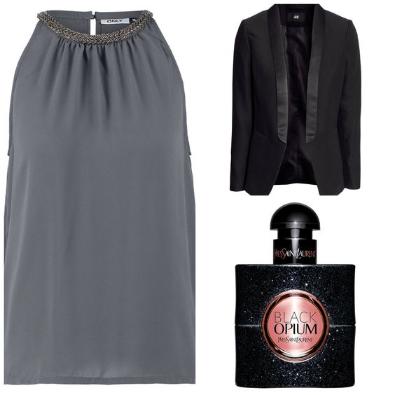 Mein Weekend-Outfit #only #outfit #blazer #hm #hundm #jacke #party #styling #look #top #schwarz #grau #fashionblog