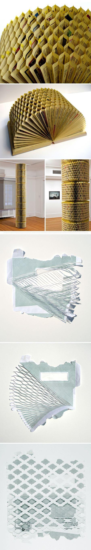 Telephone books and envelopes - Kristiina Lahde: Book Art, Paper Craft, Book Sculpture, Bookart, Paper Book, Art Book, Altered Book