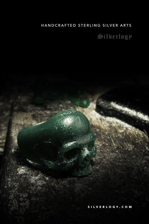 Warrior Skull Ring by Silverlogy. Handcrafted sterling silver arts. check it out at http://silverlogy.com