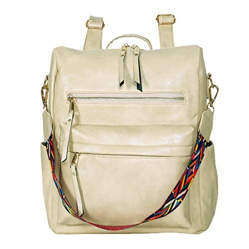 Womens Fashion Purse Backpack Multipurpose Design Handbags and Shoulder Bag PU Leather Travel bag