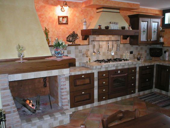 Cucina Muratura Rustica 06 | Kitchen ideas | Pinterest | Kitchens ...