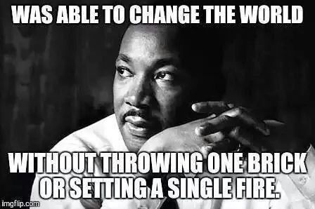 .....or assaulting & murdering cops, or looting & destroying black-owned businesses to get back at the white man.....