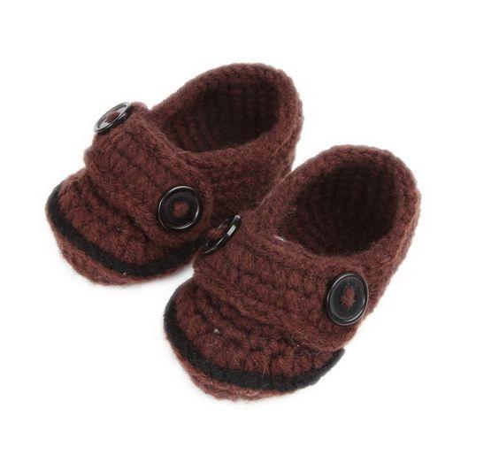 EOZY Color Café Lindo Bebé Recién Nacido 0-18 Meses Hecho A Mano Zapatos Botas Botines
