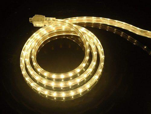 Led Rope Light 110 120v Ac Flexible Flat Led Strip Rope Light Led Rope Lights Rope Light Rope Lights